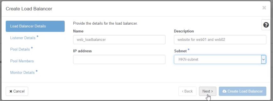 Create Loadbalancer 1