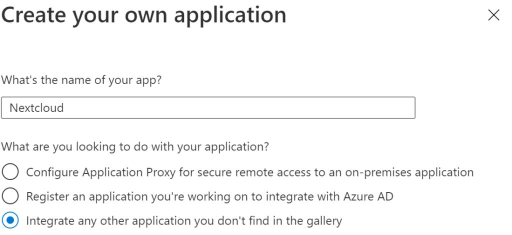 Name der Applikation